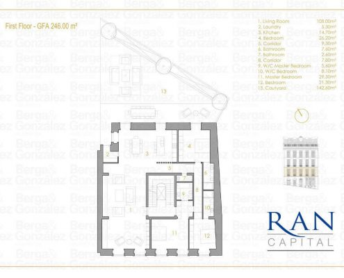 1st floor 3 bedroom floorplan